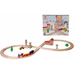 Eichhorn Spielzeug-Eisenbahn Achterbahn, 35-tlg. (Set, 35-tlg.) beige Kinder Ab 3-5 Jahren Altersempfehlung Spielzeugfahrzeuge