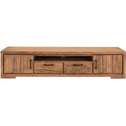 SIT Lowboard Sanam, aus Sheesham Holz mit schöner Struktur, Breite 205 cm