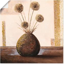 Artland Wandbild Goldene Vasen II, Vasen & Töpfe (1 Stück) 40 cm x 40 cm