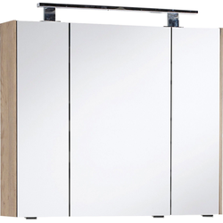 MARLIN Spiegelschrank 3400 Breite 82 cm natur