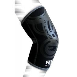 RDX E1 Ellbogenbandage (Größe: S / M, Farbe: Grau/Schwarz)