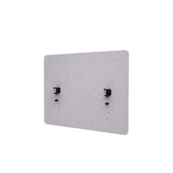 MCW Stellwand MCW-G75, Büro-Sichtschutz, Pinnwand, doppelwandig, Inkl. Anbringungen, Schalldämmend grau 60 cm x 75 cm x 2 cm