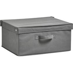 Zeller Present Aufbewahrungsbox Faltbar (1 Stück) grau Boxen Truhen, Kisten Körbe Schlafzimmer Aufbewahrungsboxen