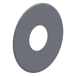 Ø 80 mm Pelletofenrohr Wandrosette geschlossen Grau
