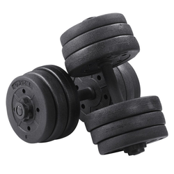 Yaheetech Hantel-Set, 20 kg, 20 KG Kurzhanteln, Gusseisen Hantel mit Sternverschlüsse, Fitness Gymnastik Hanteln für Krafttraining