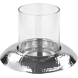 Fink Windlicht NAPA, aus Aluminium und Glas silberfarben Kerzenhalter Kerzen Laternen Wohnaccessoires