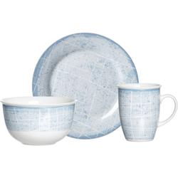Ritzenhoff & Breker Frühstücks-Geschirrset Nordic Ellen (3-tlg), Porzellan, Scandic Style