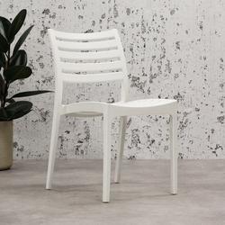 Senna Gartenstuhl Modern Weiß