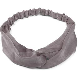 styleBREAKER Haarband Uni Haarband mit Twist Knoten, 1-tlg., Uni Haarband mit Twist Knoten grau