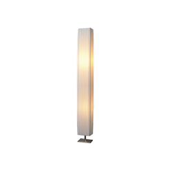TRANGO LED Stehlampe, 120SL Design Plissee LED Stehleuchte *CANNES* Stehlampe inkl. 2x E27 LED Leuchtmittel, Wohnzimmer, Lampe, Standleuchte eckig – L:14cm - B: 14cm - H: 120cm