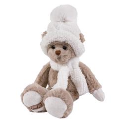 Bukowski Kuscheltier Teddybär Alvin 25 cm mit Schal & Mütze (Stoffteddybären Plüschteddybären Teddys Stofftiere)