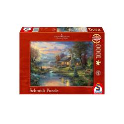 Schmidt Spiele Puzzle Schmidt 59467 - Thomas Kinkade - Im Naturparadies,, 1000 Puzzleteile
