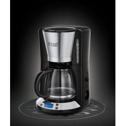 RUSSELL HOBBS Filterkaffeemaschine Victory 24030-56, 1,25l Kaffeekanne, 1x4, Digitale Glas-Kaffeemaschine
