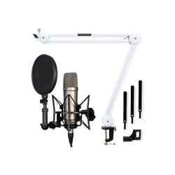 RODE Microphones Mikrofon Rode NT1-A Mikrofon-Set + Mikrofonarm Weiss