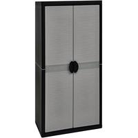 Kreher Kunststoffschrank 0,90 x 0,54 x 1,80 m grau/schwarz