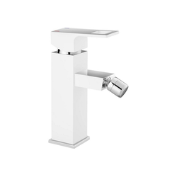 Deante Bidetarmatur ANEMON-30 Bidet-Armatur Weiß Silber matt Inkl. Ablaufgarnitur