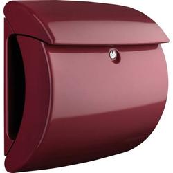 Burg Wächter PIANO 886 Merlot Briefkasten Kunststoff Rot