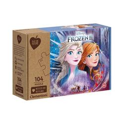 Clementoni® Puzzle Puzzle 104 Teile - Die Eiskönigin 2, Puzzleteile