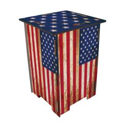 WERKHAUS® Hocker Werkhaus - Hocker Flagge USA, Photohocker Sitzhocker Sitzmöbel Sitz