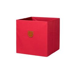 Regalbox ¦ rot ¦ Pappe, Polyester ¦ Maße (cm): B: 34 H: 34 T: 34