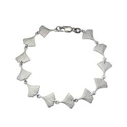 Vivance Armband 925/- Sterling Silber rhodiniert Ginkgo weiß