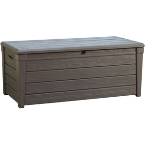 Keter Kissenbox Brightwood, Taupe, 455L