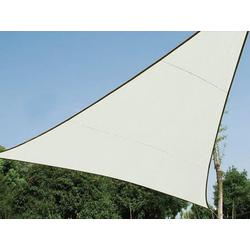PEREL Sonnensegel, dreieckig Dreieck-Segel für Terrasse Balkon & Garten Sonnenschutz-Segel - Terrassenüberdachung beige