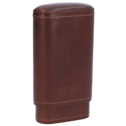 Gusti Leder Aufbewahrungstasche Ramon, Zigarrenhülle mit Zedernholz-Inlay Zigarrenschachtel Zigarrenbox Zigarrenetui Vintage Schwarz Leder braun