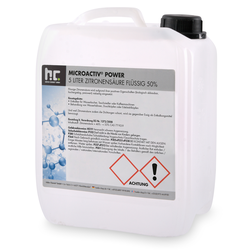 4 x 5 Liter Zitronensäure 50% flüssig(20 Liter)