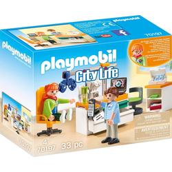 Playmobil® Konstruktions-Spielset Beim Facharzt: Augenarzt (70197), City Life, (33 St), Made in Europe