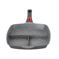 Zilan Grillpfanne ZLN-3352, Aluminium (1-tlg), 3in1 Bratpfanne, Marmorbeschichtung