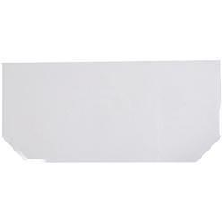 FIREFIX Glasvorlegeplatte sechseckig, 1200 x 550 mm weiß