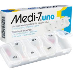 MEDI 7 uno Medikamentendosierer für 7 Tage weiß 1 St