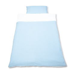 Pinolino Bett- und Kopfkissenbezug für Kinderbetten (Vichy Karo bleu)
