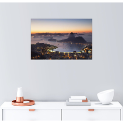 Posterlounge Wandbild, Zuckerhut und Botafogo Bay 130 cm x 90 cm
