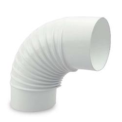 Ø 120 mm Ofenrohr Bogen gerippt 90° emailliert Weiß