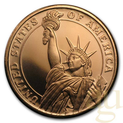 1 Unze Kupfer Statue of Liberty
