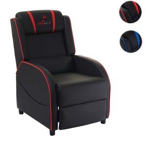 Fernsehsessel HWC-D68, HWC-Racer Relaxsessel TV-Sessel Gaming-Sessel, Kunstleder ~ schwarz/rot