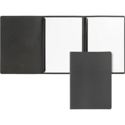 Präsentationsmappe 3-teilig Softkarton schwarz