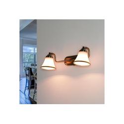 Licht-Erlebnisse Wandleuchte GRANDO Badleuchte Wand Jugendstil Bronze schwenkbar Spiegelleuchte Lampe