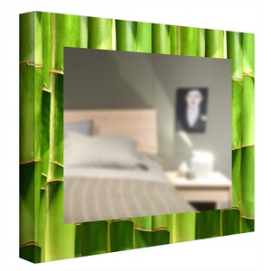 CCRETROILUMINADOS Bambus, beleuchteter Badezimmerspiegel, Metacrylat, Mehrfarbig, 60 x 60 cm