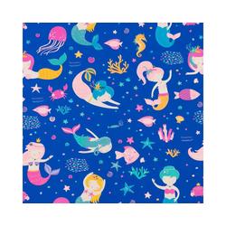 STAR Geschenkpapier, Geschenkpapier Meerjungfrau Muster 70cm x 2m, Rolle
