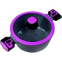 King Click-Grip Kochtopf 28 cm schwarz-beere