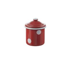 Neuetischkultur Zuckerdose Zuckerdose mit Deckel Retro, Emaille, (1-tlg) rot