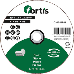 FORTIS Trennscheibe Stein 230 x 3,0mm gerade
