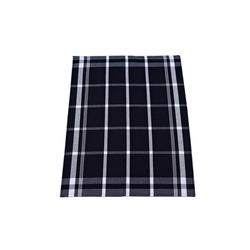 Ross Geschirrtuch mit Karo-Muster in schwarz, 50 x 70 cm