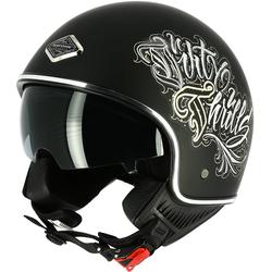 Astone Dirty Thrills Jet helm Zwart XS