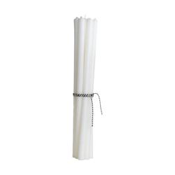 House Doctor Stabkerzen, Weiß, 30 cm, Brenndauer 6 Stunden