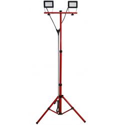 LED Baustrahler, LED-Arbeitslampe 2 Stück 20w inklusive Stativ, mit 3 Meter Kabel