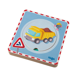 Haba Steckpuzzle Holz-Lagenpuzzle Baustelle, Puzzleteile